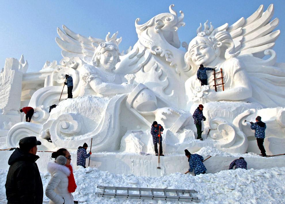 3. Царство льда и снега в Харбине началось разрастаться с 1999 года и сейчас является самым кру