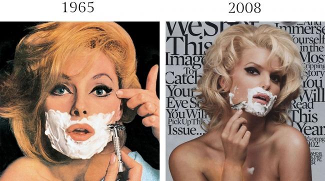 Вразгар второй волны феминизма, арт-директор Esquire Джордж Лоис придумал образ красивой женщины с