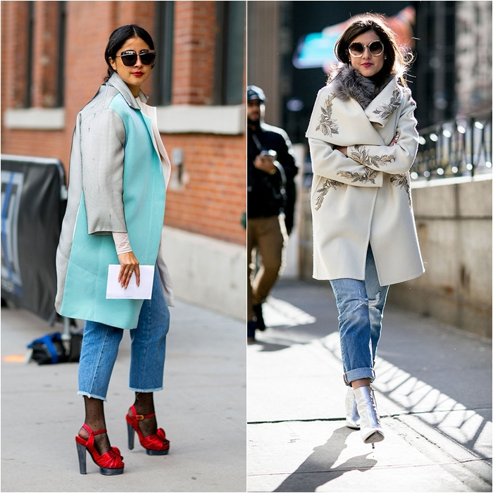 How to Wear Jeans with a Coat: Street Style picture 13
