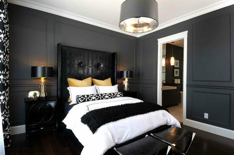 Черный цвет в дизайне интерьера фото 17