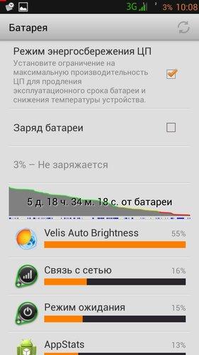 Батарея - расход