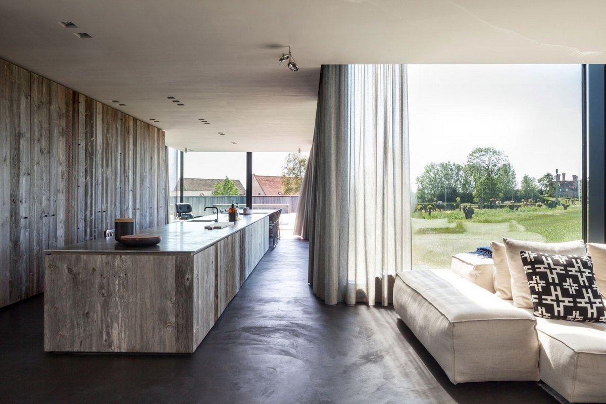 Graafjansdijk House, Govaert & Vanhoutte Architects, планировка частного дома фото, стеклянный фасад частного дома фото, стильный частный дом фото