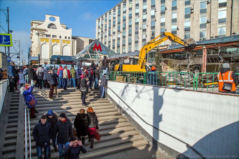 Demolition of the Pyramid at Pushkinskaya