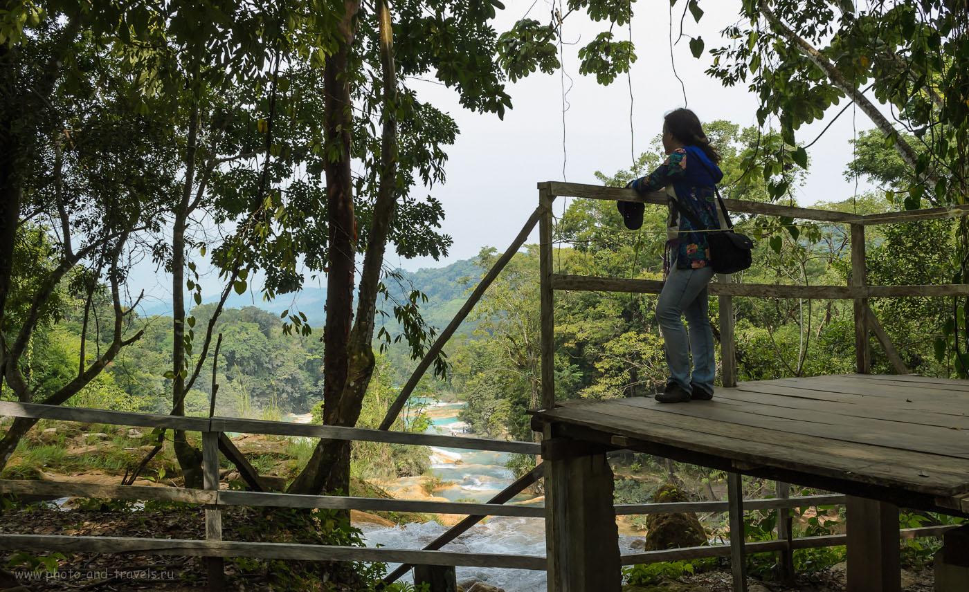 Фото 5. Вид на красоту водопада Агуа-Асуль. Отчет о самостоятельном туре по Мексике в ноябре 2012.