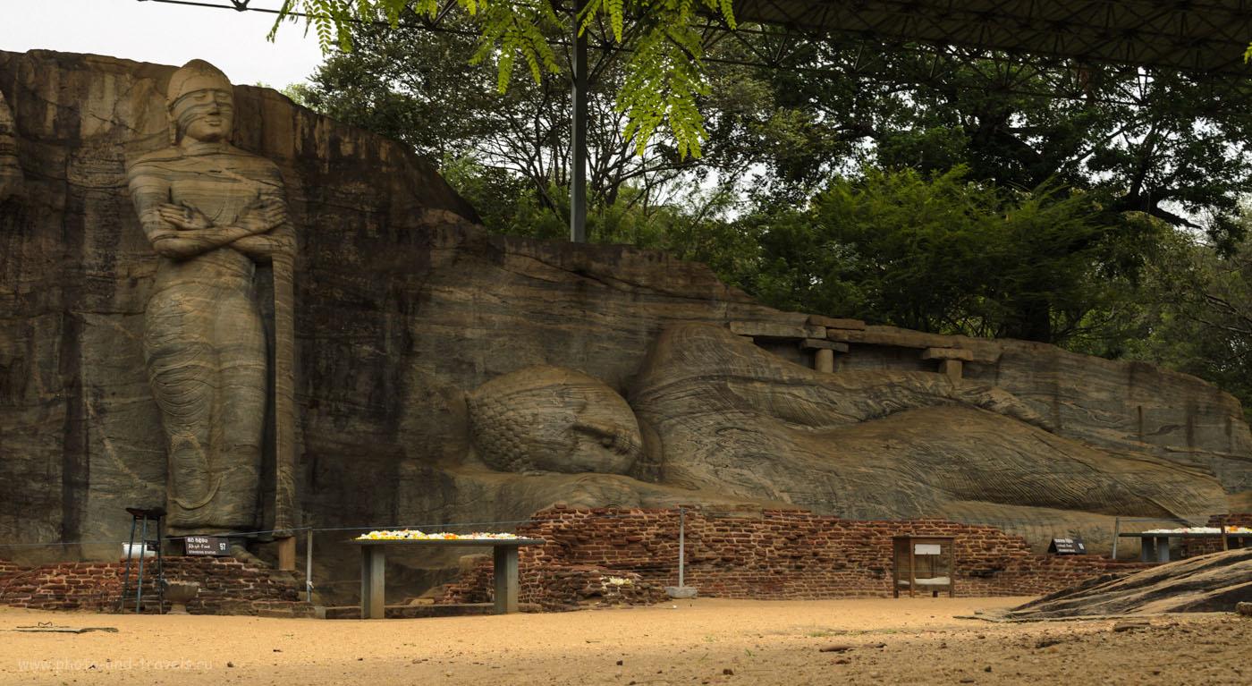 14. Спящий Будда в археологическом комплексе Полоннарува. Туры на Шри-Ланку самостоятельно. Как добраться в Polonnaruwa на машине или на автобусе.