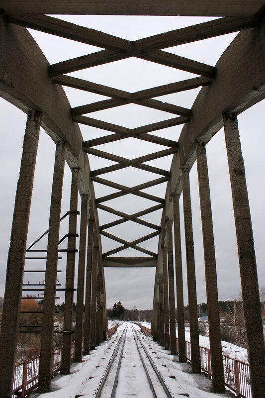 Перегон Белый городок - Калязин пост, участок Белый городок - 151 км, мост через реку