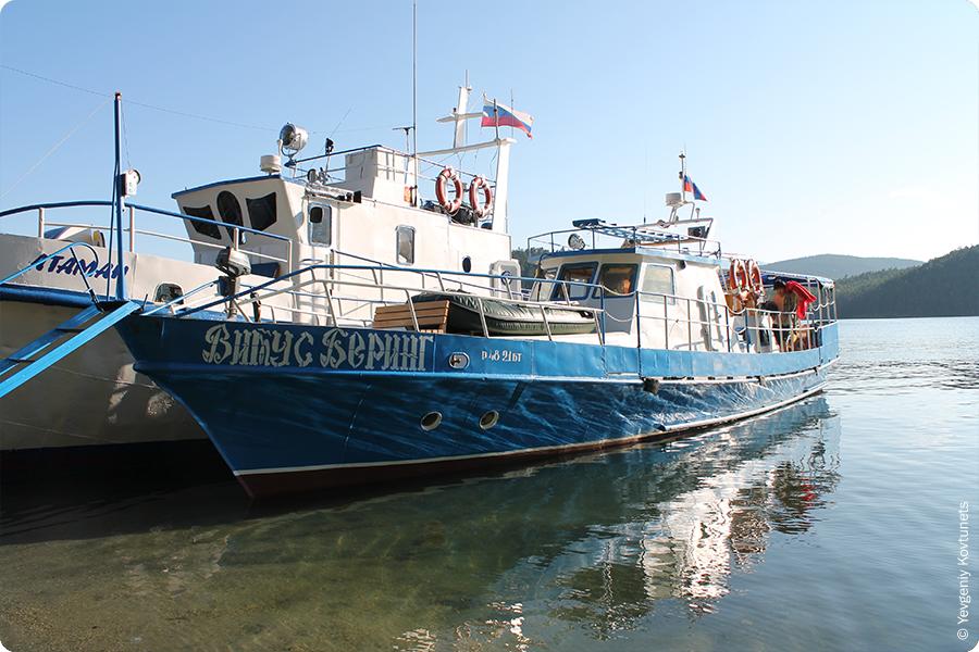 Корабли Витус Беринг и Атаман, бухта Змеиная, Байкал