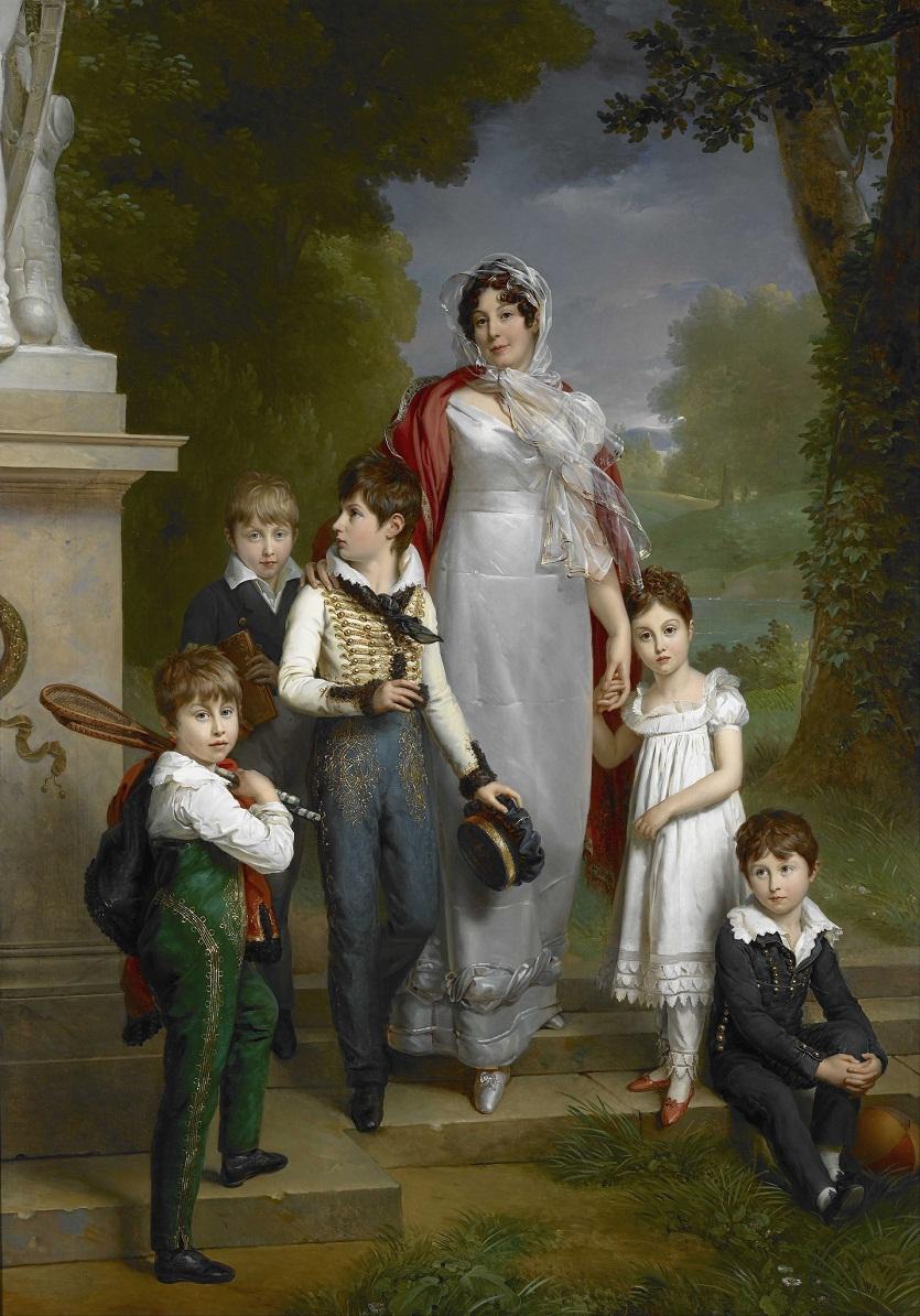 герцогиня де Монтебелло с детьми