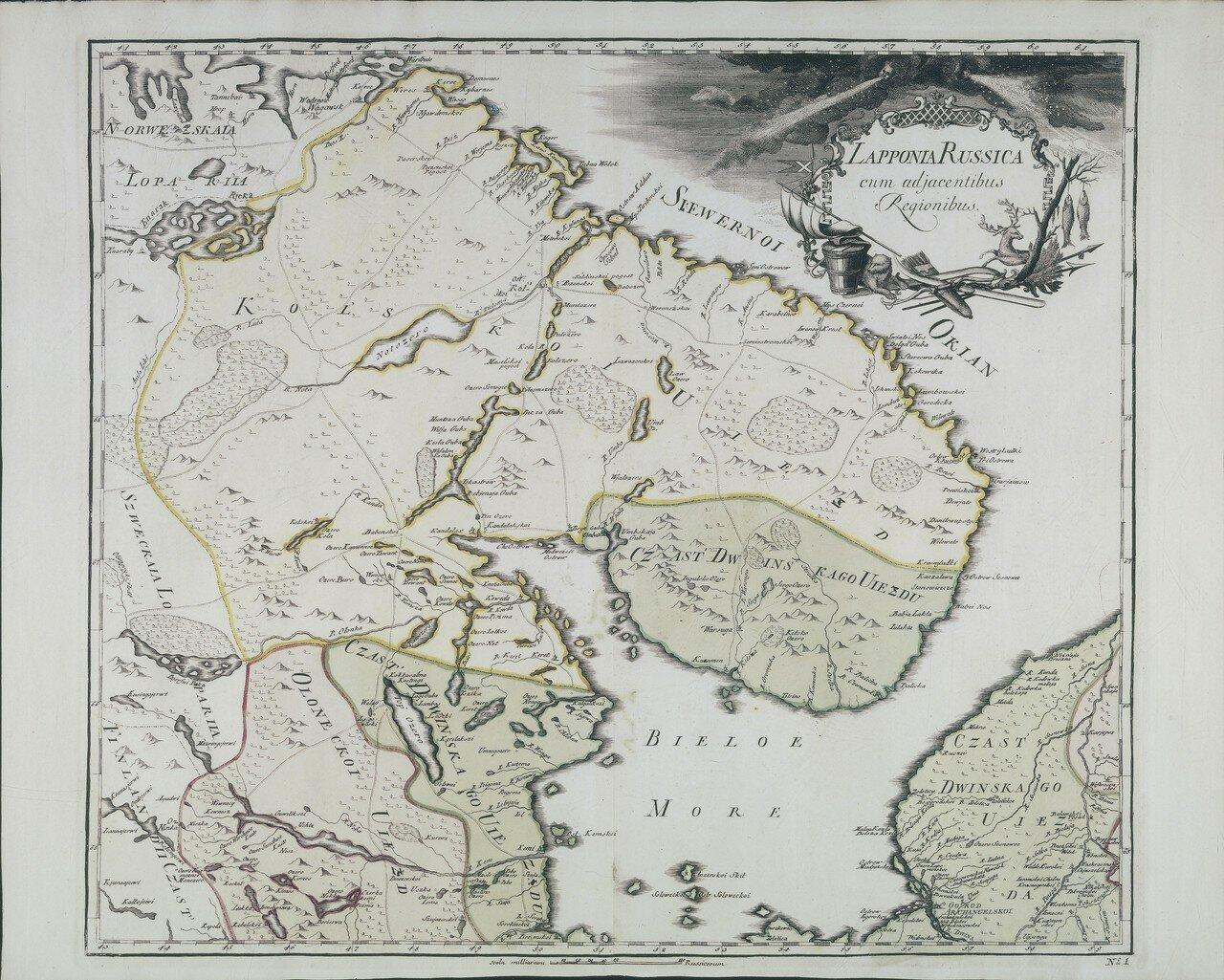 1745. Русская Лапландия с соседними областями