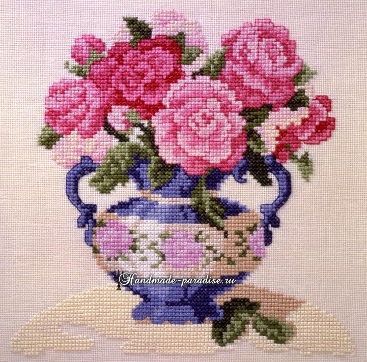 Вышивка крестом вазы схемы 15