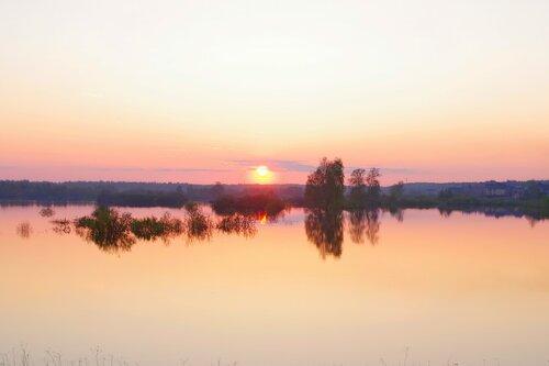 закат весеннего солнца