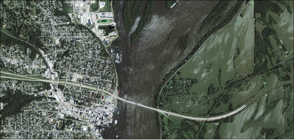 3. Наводнение в Гальфпорте, Иллинойс.