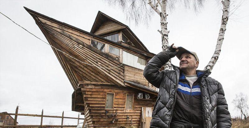 22. Дом-корабль в поселке Боровой, Кемеровская область Этот дом-корабль, построенный местными умельц