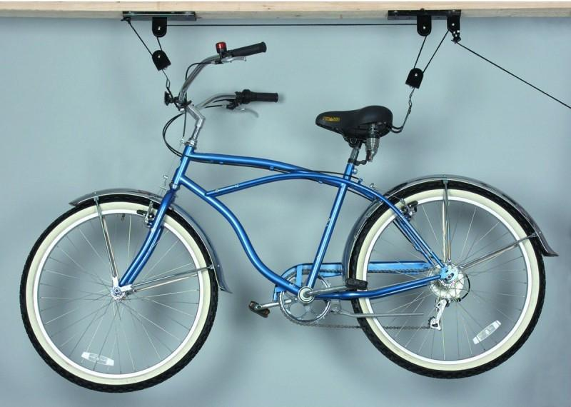 Система помогает удобно хранить велосипед и быстро доставать его.