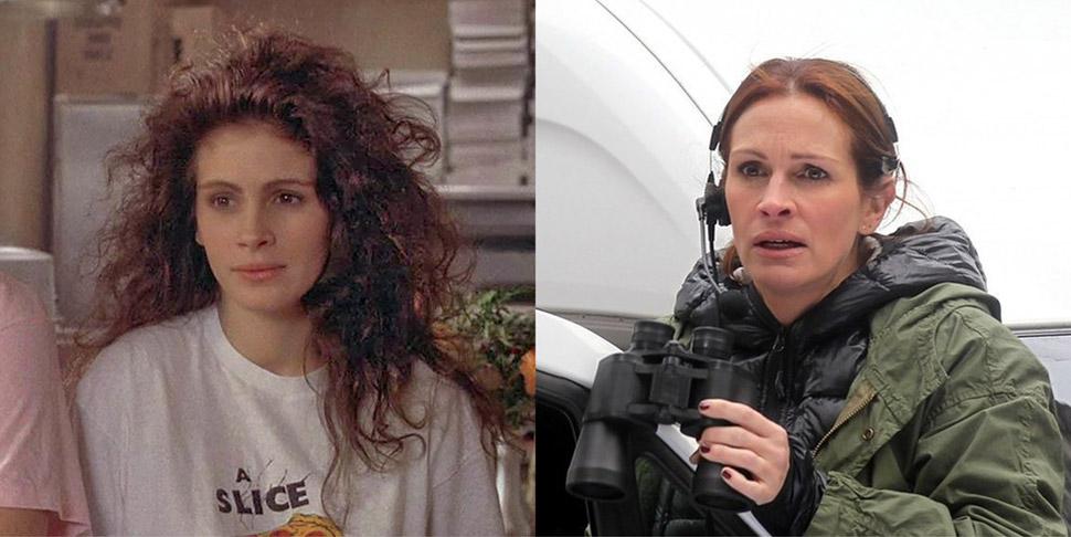 Джулия Робертс: «Мистическая пицца» (1988) и «Финансовый монстр» (2016).