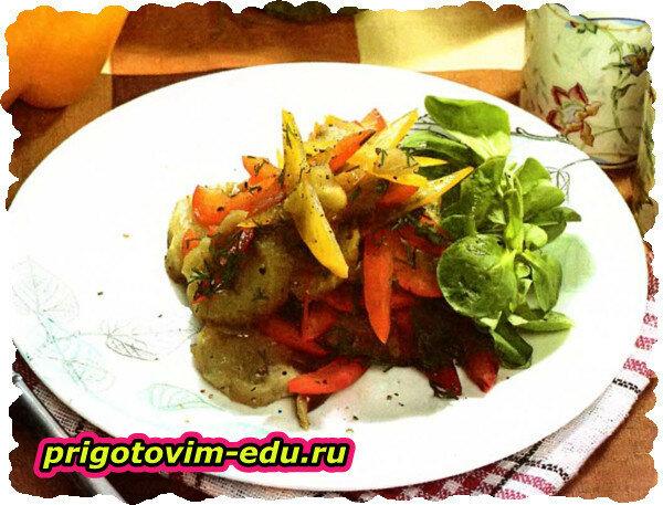 Салат из баклажанов и сладкого перца