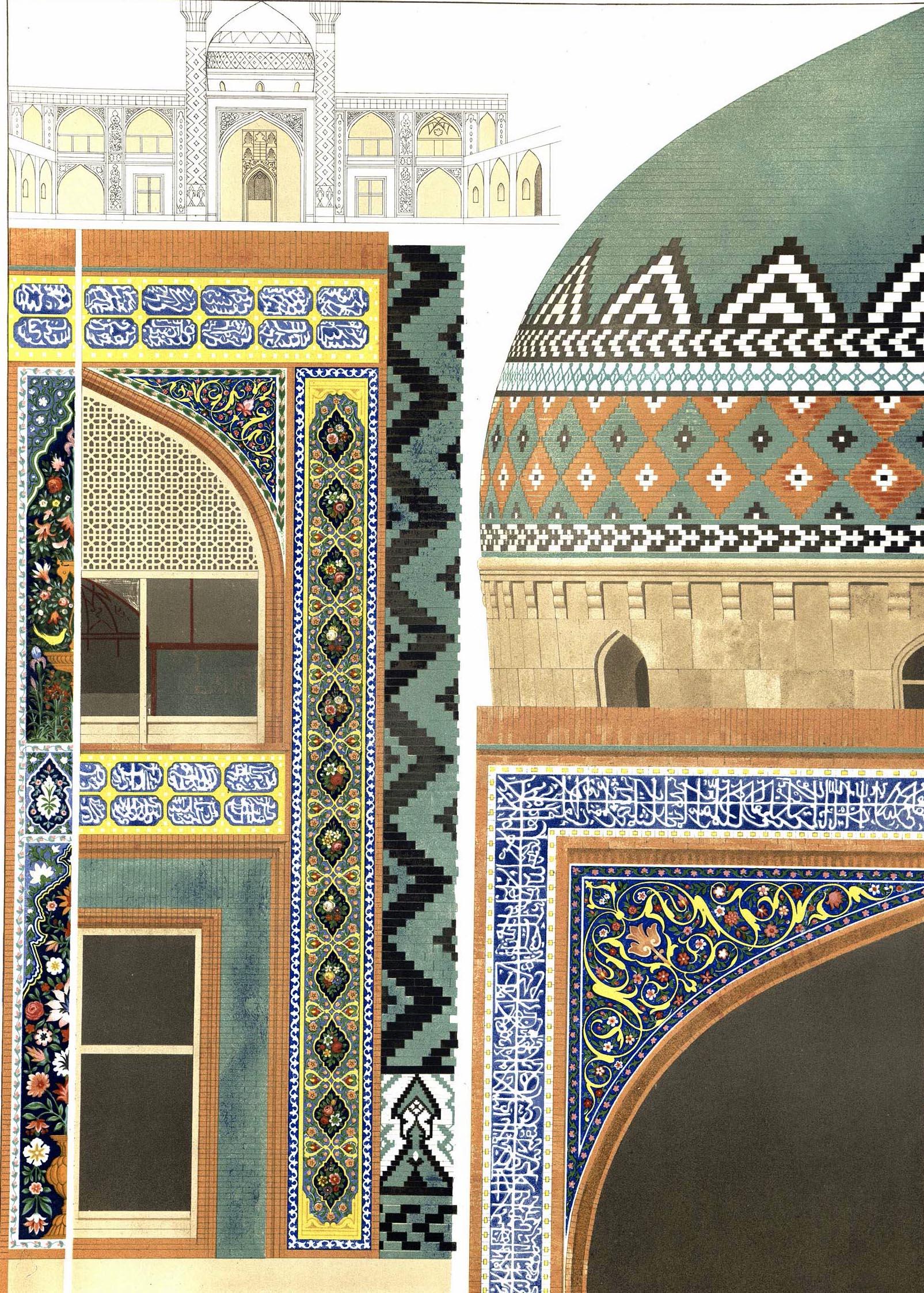 21. Erivan. Details des faiences de la mosquee / Эривань. Детали мозаики фаянса мечети
