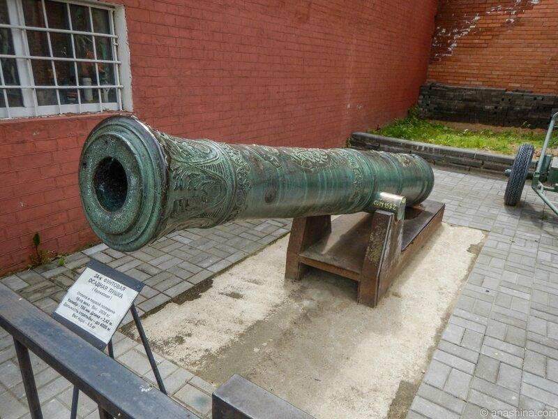 Бронзовая 24-х фунтовая осадная пушка начала XVIII века