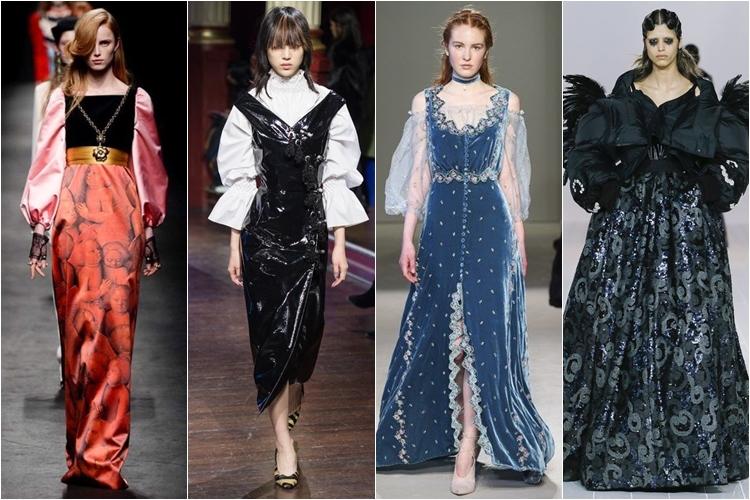 стиль ренессанса, мода осень-зима 2016-2017