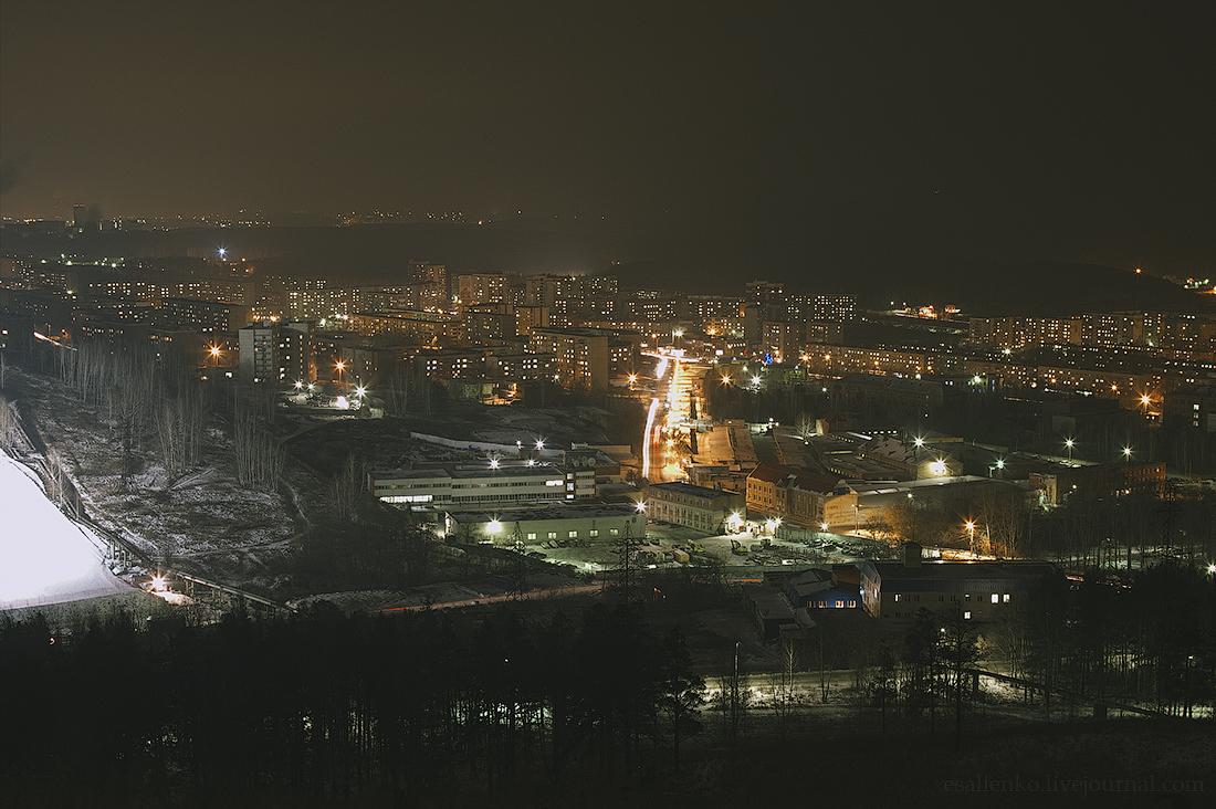 огромное фото ночной миасс зимой положить плитку стену
