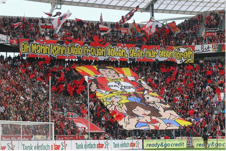 Soccer tifos / Гигантские баннеры футбольных болельщиков со со стадионов по всему миру - Bayer Leverkusen