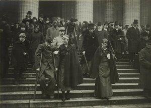 1916. На церемонии памяти погибших итальянских солдат в церкви Мадлен