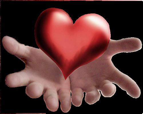Анимации картинки сердце в ладонях, нарисовать