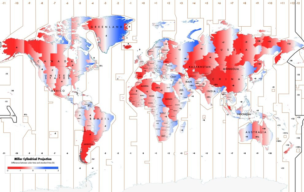 Карта, на которой выделены города с населением более 100000 жителей.Всего 4037 городов.