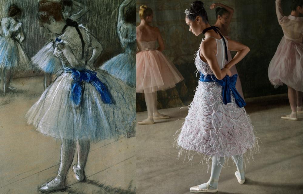 Балерина оживила картины известного импрессиониста (7 фото)