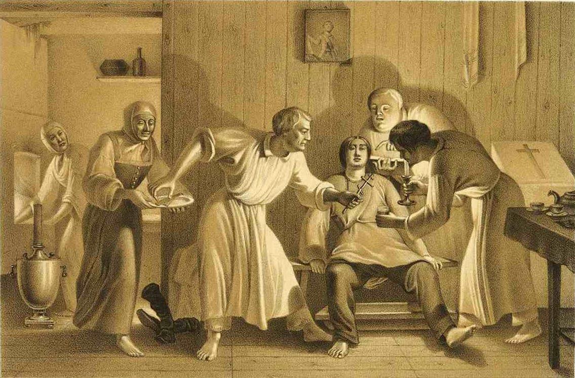4. Оскопление. Литография из Исследования о скопческой ереси Даля 1844