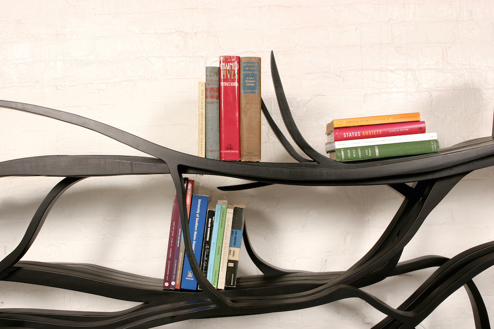 """Metamorphosis Shelf,"" carved wood, 2010 , 56 3?4"" x 127"" x 14 1?2"", edition of 12"