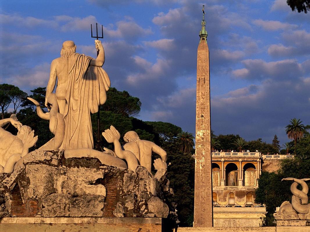 Пьяцца-дель-Пополо (Народная площадь), Рим