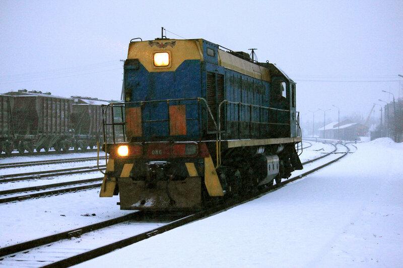 ТЭМ2УМ-086 на станции Невель-2