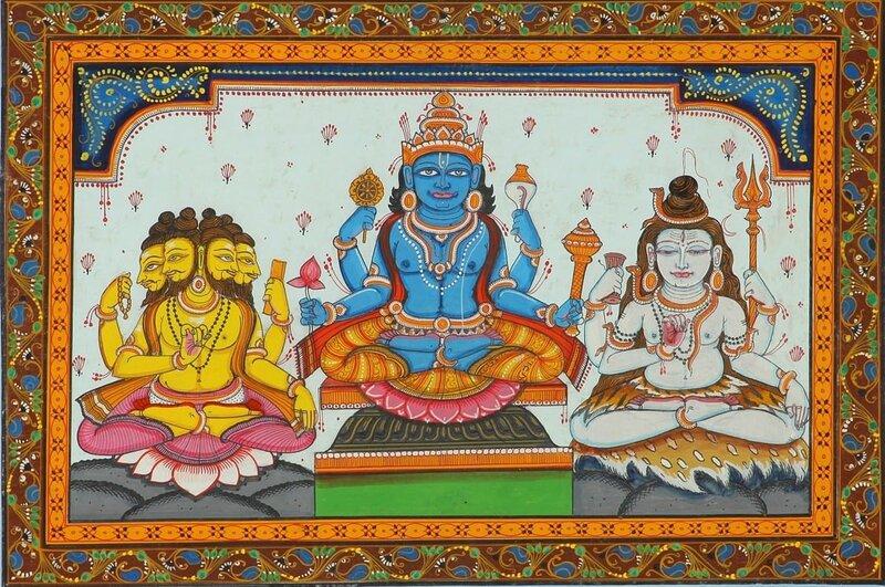 Тримурти: Брахма, Вишну и Шива
