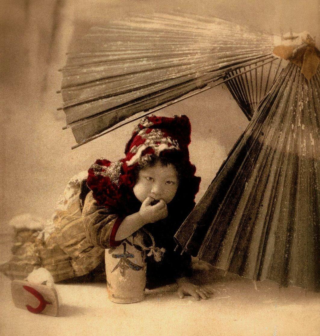 Ребенок под веером. 1898-1908
