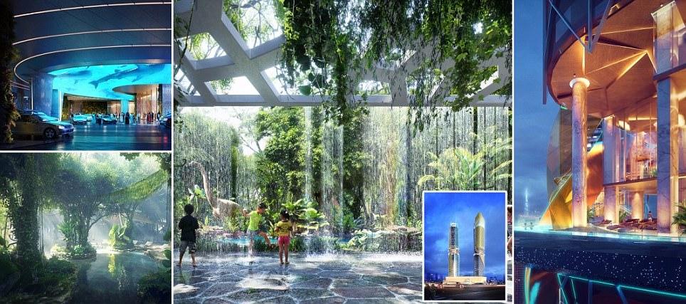 Первый в мире отель с тропическим лесом откроется в Дубае
