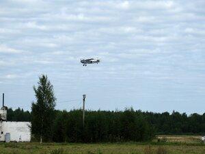День воздушного флота на аэродроме в Кречевицах - самолёт АН-2 с парашютистами