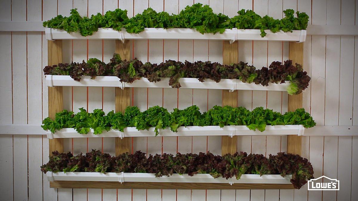 12. Вертикальный сад из старых водосточных труб Можно выращивать зелень или подвесить на цепочках и