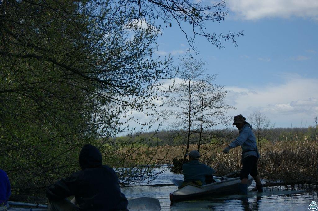 Прохождение препятствия на реке Боромля