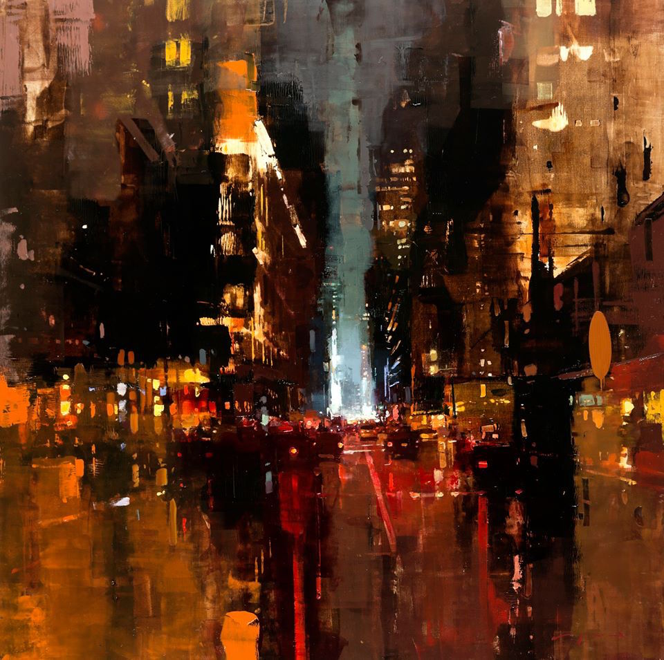 New Oil-Based Cityscapes Set at Dawn and Dusk by Jeremy Mann (8 pics)