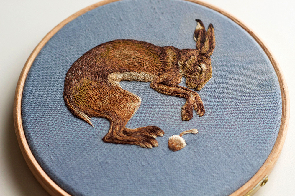 New Densely Embroidered Animals by Chloe Giordano