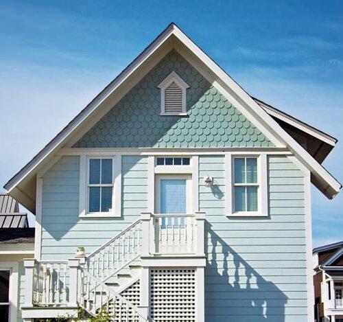 Фото домов отделанных фиброцементным сайдингом