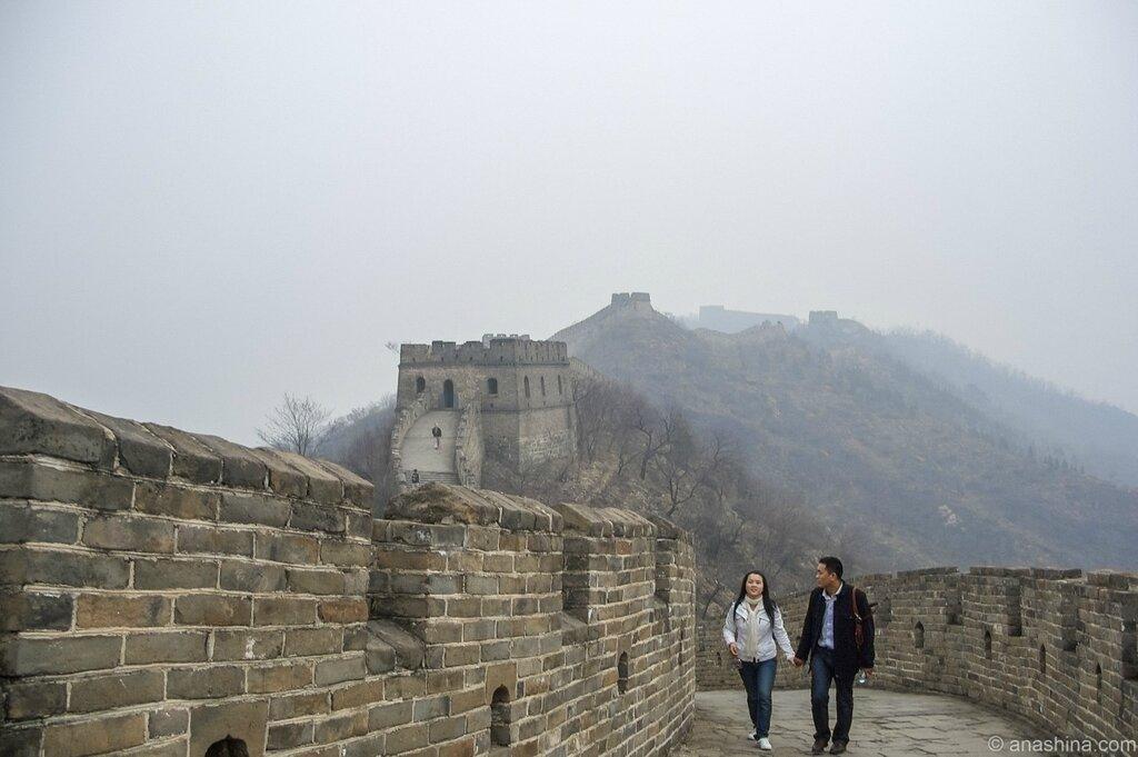 Влюбленные, Великая китайская стена, Мутяньюй