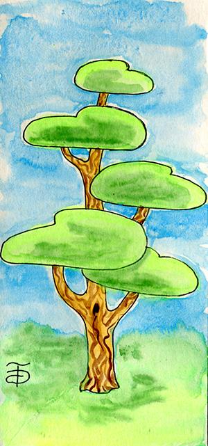 Дерево - Сосна. Оригинал