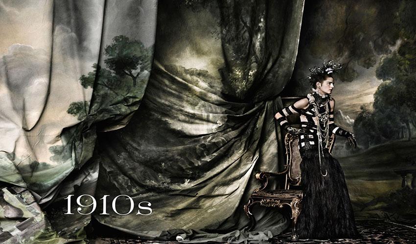Vogue UK June 2016 Decades 1910s Stella Tennant by Mario Testino