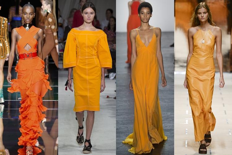 модные цвета весна-лето 2016 - оттенки оранжевого