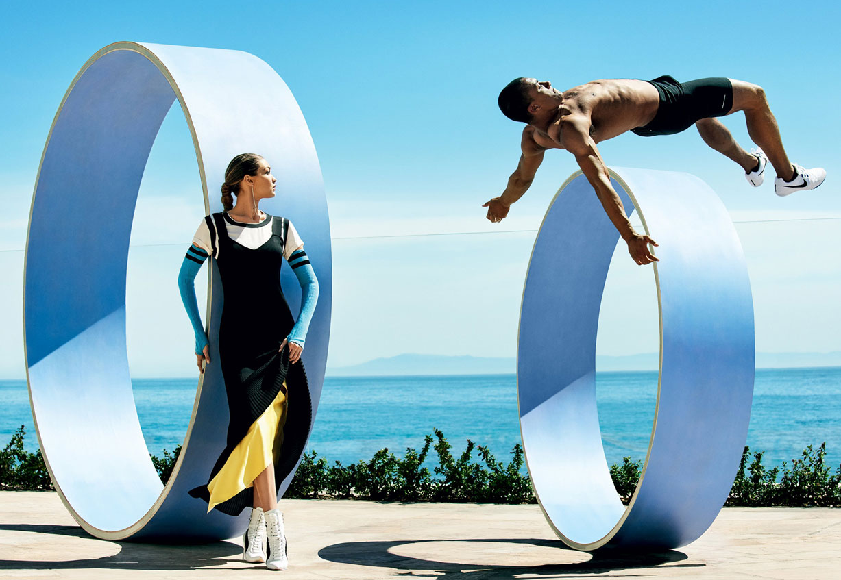 Эштон Итон и Джиджи Хадид / Gigi Hadid and Ashton Eaton by Mario Testino - Vogue US august 2016