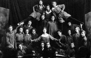 1926. Златоуст. Металлургический завод. Выступление театра «Синяя блуза»