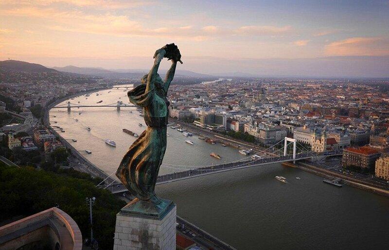 Будапешт (фото с помощью беспилотника)
