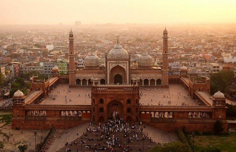 Мечеть Джама-Масджид (фото с помощью беспилотника)